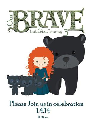 Brave Party Invitations